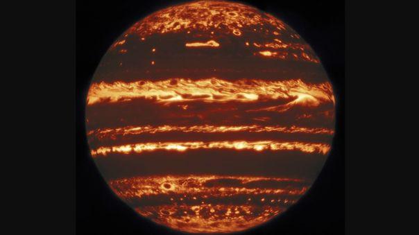 Imáganes infrarrojas de Júpiter tomadas por el telescopio Gemini