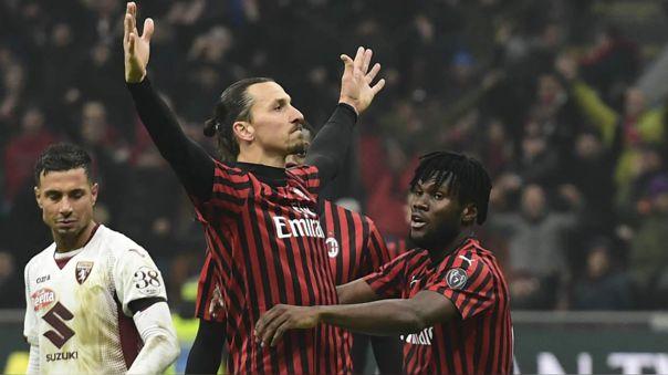 AC Milan marcha en el sétimo lugar de la Serie A 2019-20
