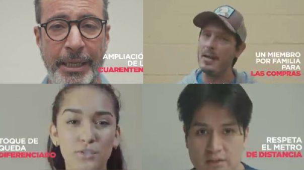 Artistas envían mensaje a los peruanos.