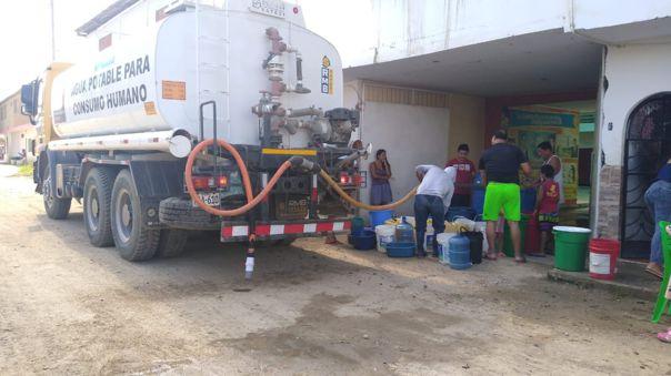 Pobladores de la provincia de Tumbes sigue con los problemas de servicio de agua.