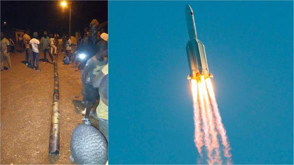 El reingreso del cohete Larga Marcha 5B no fue controlado.