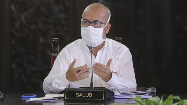 El ministro Víctor Zamora durante una de las declaraciones en Palacio de Gobierno sobre el coronavirus.