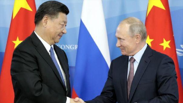 Xi Jinping, presidente de China, y Vladímir Putin, presidente de Rusia, considerados como aliados estratégicos.