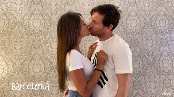 Lionel Messi y Antonela Rocuzzo muy enamorados