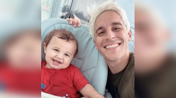Alejandro Hohberg, con nuevo look, junto a su bebé en tierna foto