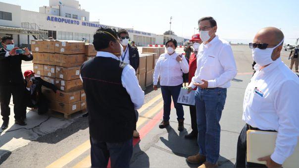 El presidente se encuentra en Tacna para hacer la entrega de material médico.