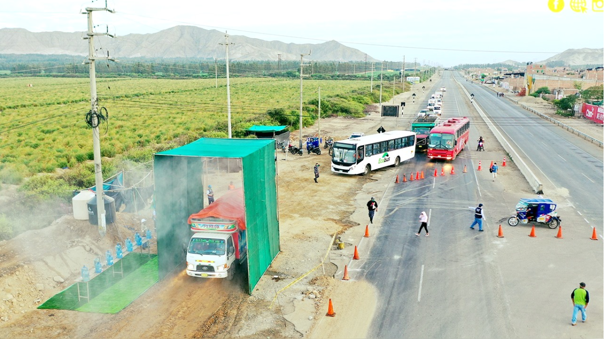 Instalarán cabina para desinfectar vehículos en La Libertad.