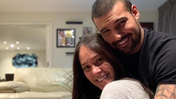 Karen Schwarz y Ezio Oliva anuncian el nacimiento de su segunda hija.