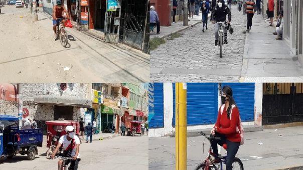 Muchos sacaron de los almacenes las bicicletas que tenían guardadas, para ir a mercados, bancos y farmacias.