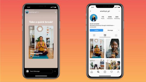 La nueva interfaz de Instagram para contenido asociado al bienestar ya está disponible