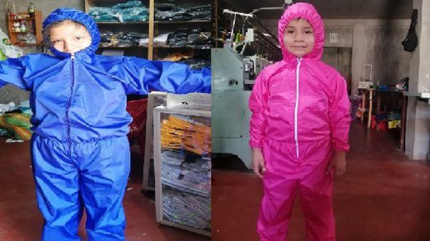 Familia elabora trajes para proteger a los niños del nuevo coronavirus