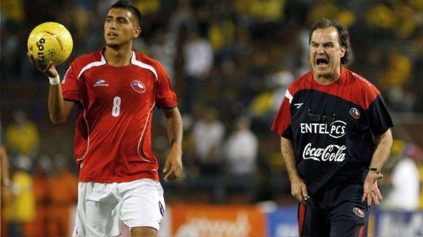 Arturo Vidal y Marcelo Bielsa