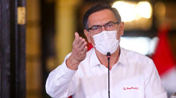 El presidente Martín Vizcarra baja tres puntos en su aprobación, respecto al mes de abril.