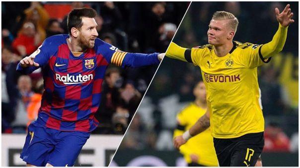 Lionel Messi y Erling Haaland