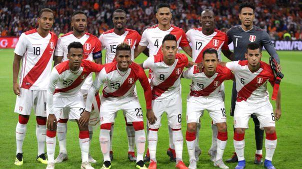 Alineación de Perú en el amistoso contra Holanda