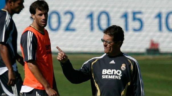 Fabio Capello y Rudd van Nistelrooy