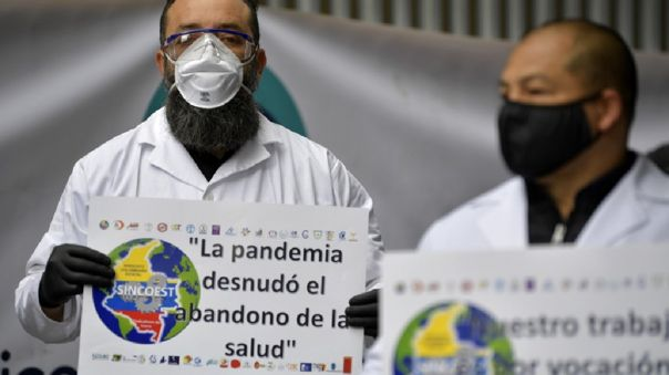 COLOMBIA-HEALTH-VIRUS-PROTEST