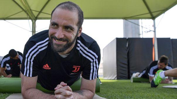 Gonzalo Higuaín volvió a los entrenamientos de la Juventus
