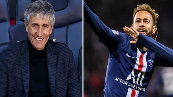 Quique Setién señaló que estaría 'encantando' de entrenar a Neymar