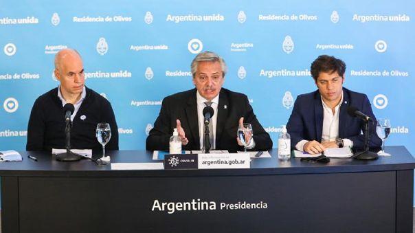 El presidente de Argentina, Alberto Fernández, anunció la extensión de la cuarentena.