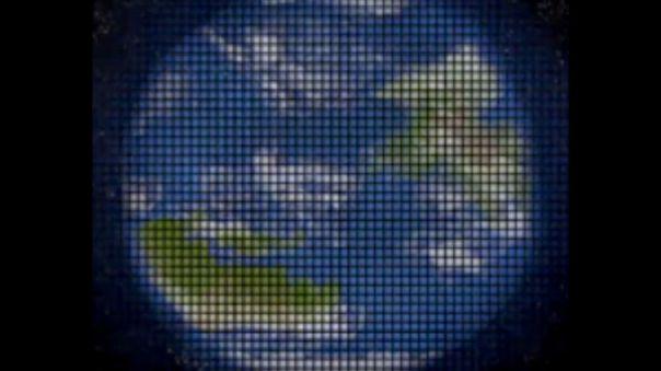 Simulación de planeta observado con el telescopio SGL