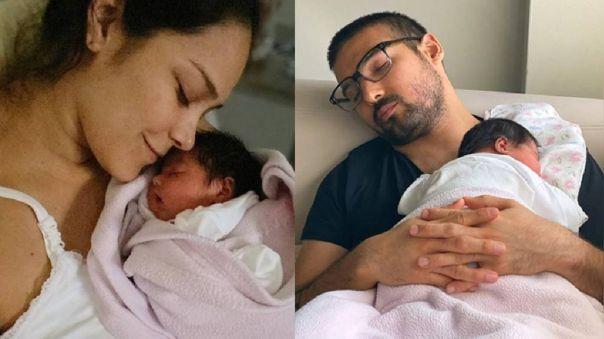 Karen Schwarz y Ezio Oliva comparten fotos con su segunda hija.
