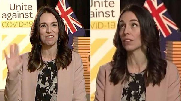 Jacinda Ardern, primera ministra de Nueva Zelanda, fue sorprendido por sismo durante entrevista en vivo sobre la COVID-19