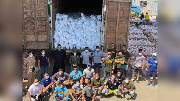 Hasta hace un par de días el sacerdote logró repartir 143 mil canastas de víveres para los más necesitados.