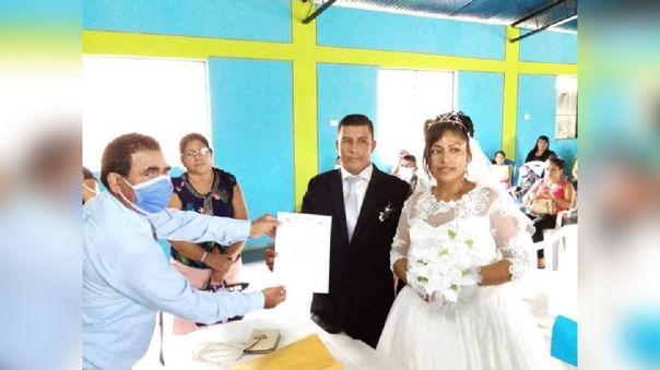 Pareja contrajo matrimonio sin respetar las restricciones del estado de emergencia