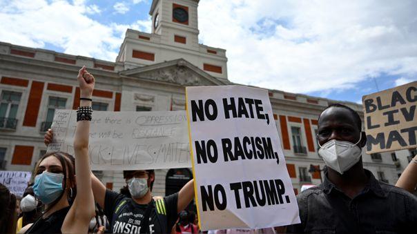 SPAIN-US-RACISM-DEMO
