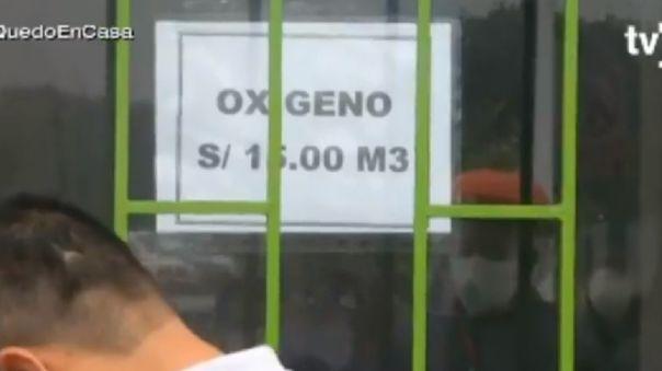La empresa Diversal ofrece sus balones de oxígeno a 15 soles el m3.