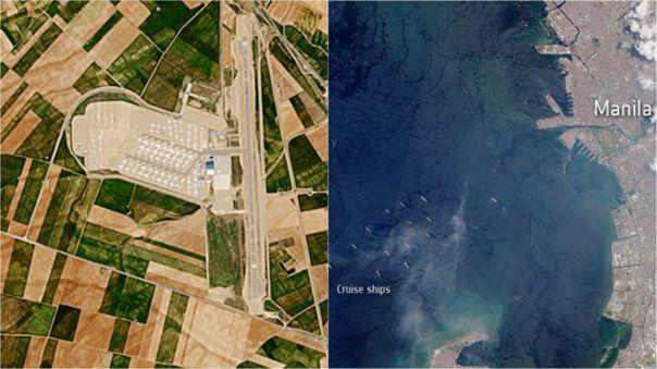 Imágenes captadas por la misión Copernicus Sentinel-2 de la Agencia Espacial Europea (ESA).