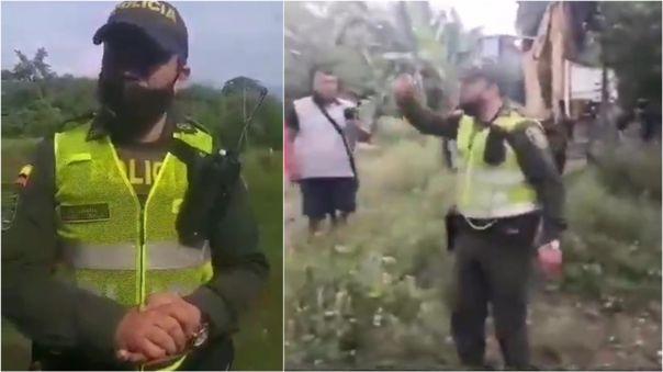 Las acciones del policía colombiano Ángel Zúñiga se hicieron virales en las redes sociales.
