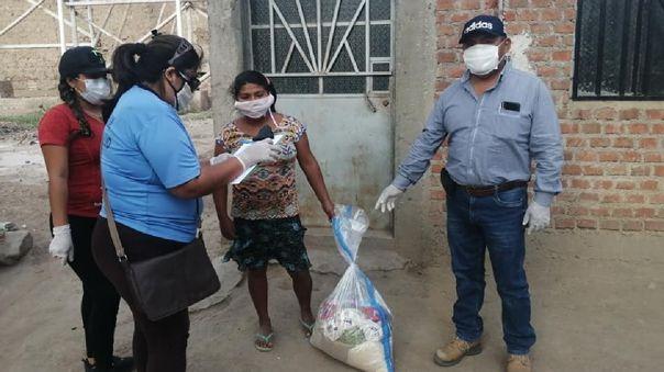 Investigan malos manejos en el reparto de canastas de alimentos en Tumán