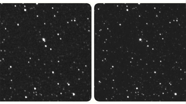 Paralaje de Próxima Centauri con imagen de la Tierra y de New Ho