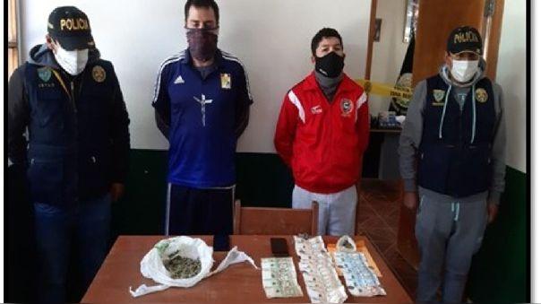 Detenidos tenían en su poder droga