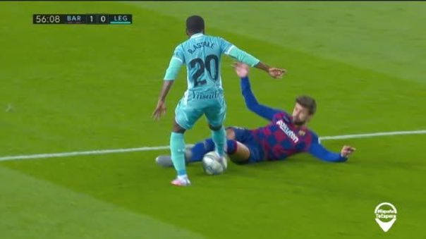 Eso dolió: la dura plancha que recibió Gerard Piqué ante el Leganés