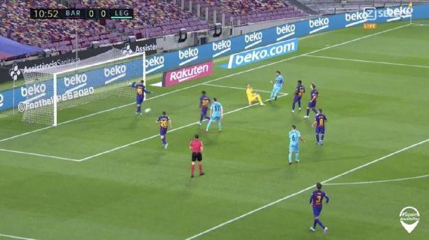 Se salvó el Barcelona: Lenglet evitó gol de Leganés tras salida de Ter Stegen