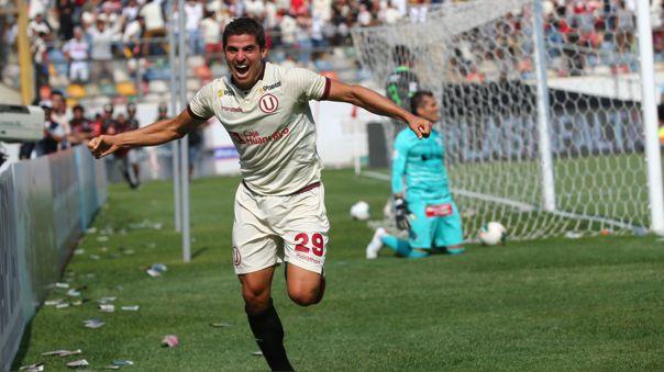 Aldo Corzo anotó en la victoria de Universitario sobre Alianza Lima