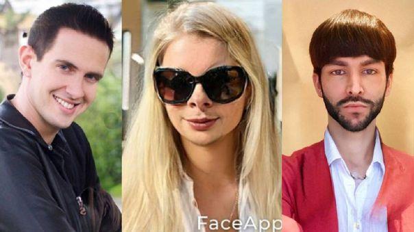 Artistas usaron la divertida FaceApp para cambiar su apariencia.