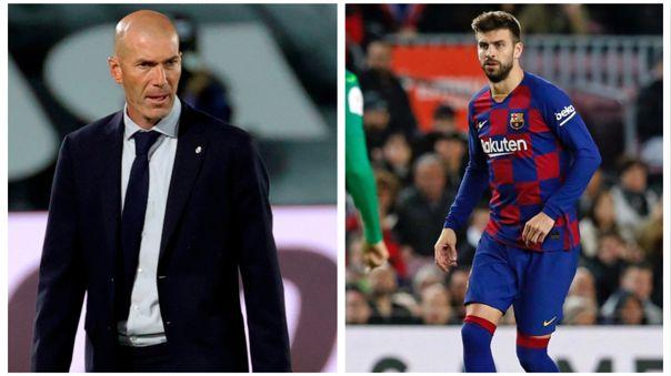 Zinedine Zidane respondió a Gerard Piqué sobre los cobros arbitrales