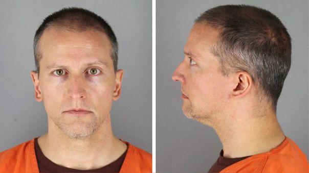 Dereck Chauvin, policía acusado por el homicidio de George Floyd, tras ser detenido.
