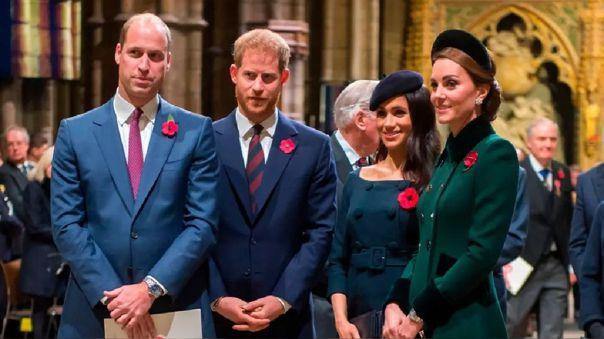 William, Harry, Meghan y Kate