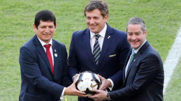 Agustín Lozano y Alejandro Domínguez en la final de la Copa América 2019