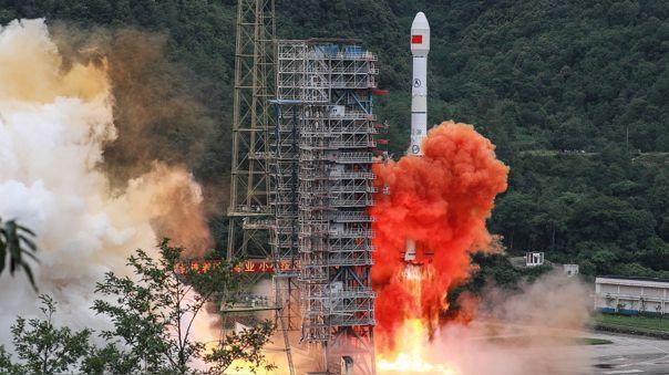 Despegue del satélite chino