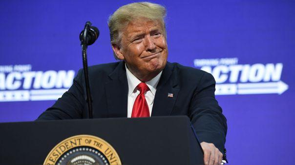 Donald Trump durante un evento este martes en Phoenix, Arizona.