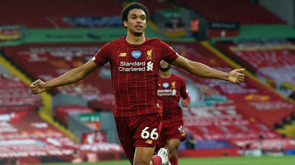 Trent Alexander-Arnold anotó en el triunfo de Liverpool frente al Crystal Palace
