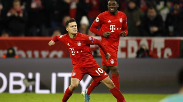 Philippe Coutinho fue cedido al Bayern Munich por la temporada 2019-20