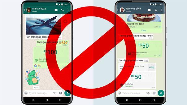 Problemas para WhatsApp y su sistema de pagos en Brasil.