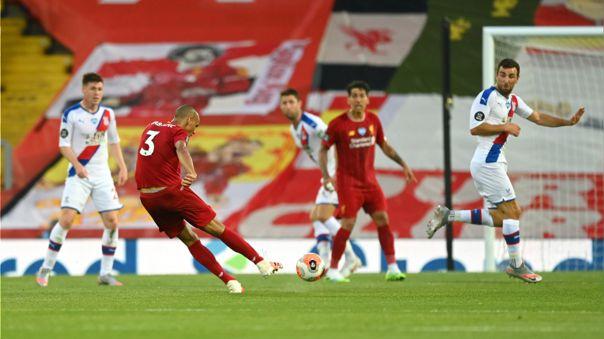 Fabinho anotó el tercer gol de Liverpool ante Crystal Palace